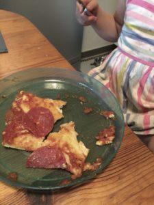 Pizza gebacken und aufgegessen
