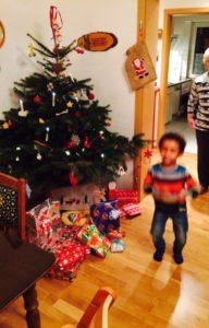 Noah feirt gern Weihnachten